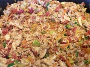 Chicken Mixture, Sauteing