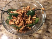 pepper/cashew mixture