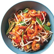Sweet and Spicy Shrimp with Rice Noodles Cooking Light/Aug 2012
