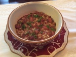 Red Beans and Rice...ready to serve!