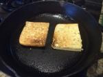 Focaccia bread grilling
