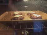 Patties and Cheese melting in the oven...yummy!