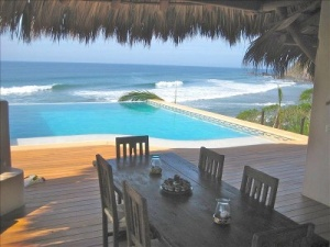 Our house we rented in Troncones, Mexico