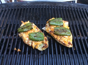 Our jalapenos going on top of the chicken