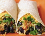 Bean and Spinach Burrito Wraps by SkinnyMs.com