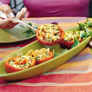 Feta Stuffed Tomatoes by Southern Living