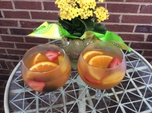 Kinky White Wine Sangria for two
