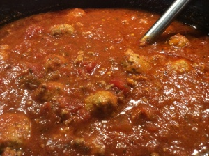 My homemade sauce and meatballs..This is the ultimate Italian comfort food!