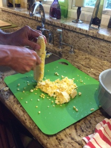 Cutting kernels off the cob