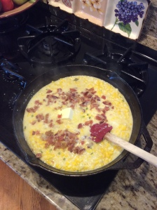 Butter, Bacon, and Seasoning added