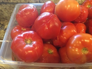 tomatoes ready to peel
