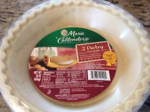 My frozen pie crust of choice...mine was thawed