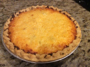 Out of the oven...look at that yummy cheese topping!