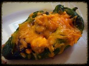 Chicken and Vegetable Stuffed Poblanos