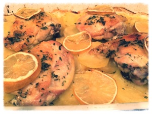 Chef Frankie's Lemon Roasted Chicken and Potatoes
