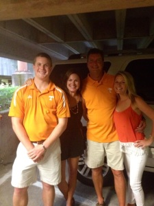 My beautiful family a few weeks ago at the Vol's first home game!