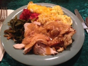 Jim Pitt's Thanksgiving Indulgence!  Wow, what a plate!
