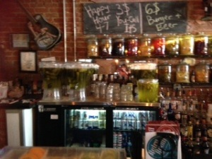 The Retro Pub with various typed of Infused Vodkas