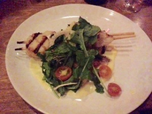 Ashleigh had the Garlic Grilled Scallops