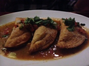 And Hunter had the most unique dish...Buffalo Empanadas