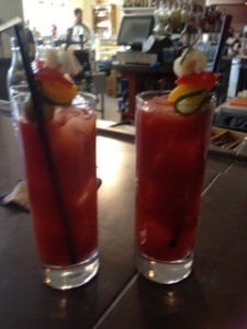 Bloody Mary's at Mercantile Dining and Provisions