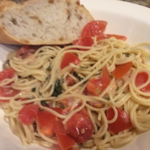 Served in a bowl to capture all the yummy juices alongside a crusty piece of Italian Bread