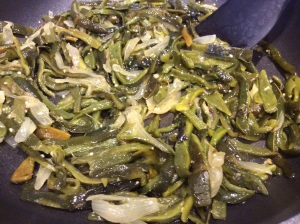 My Rajas cooking over the stove