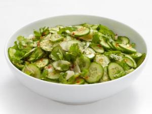 Asian Cucumber Salad from the Food Network