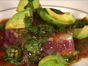 Pan-Seared Tuna with Avocado Soy, Ginger, and Lime...a Tyler Florence recipe
